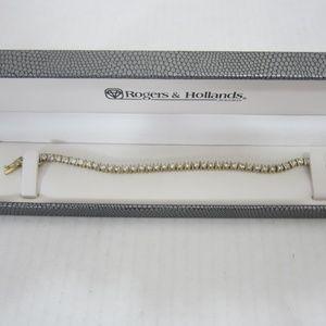 Rogers & Hollands Cubic Zirconia Tennis Bracelet